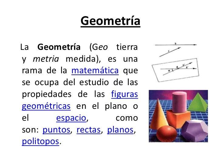 Geometr a y sus aplicaciones for Arquitectura que se estudia