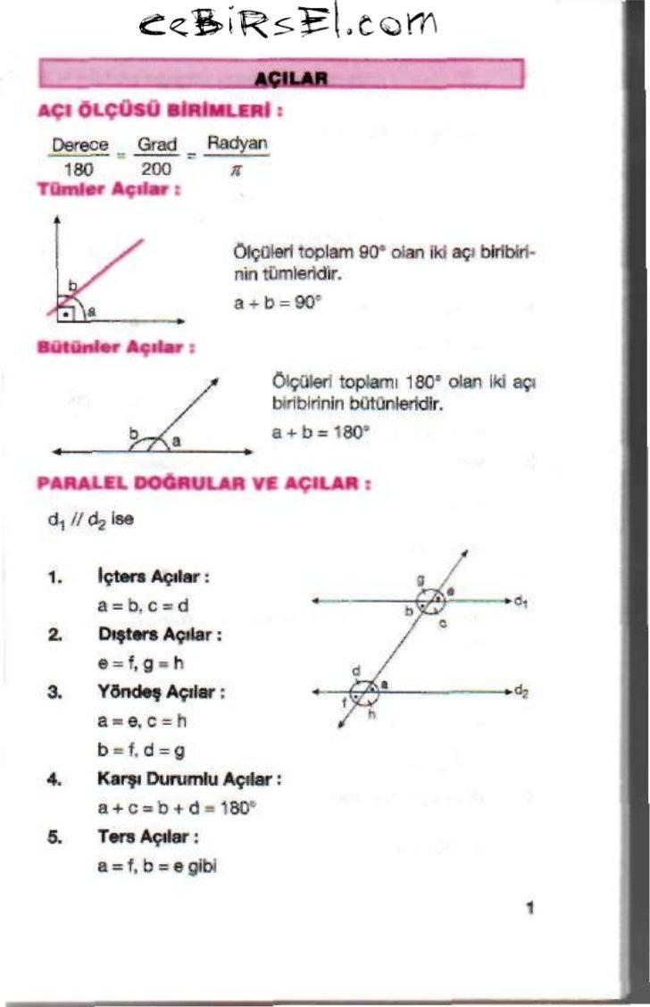 Geometri cep kitapcigi