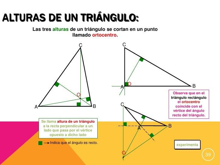 Resultado de imagen de ortocentro segun tipo de triangulo