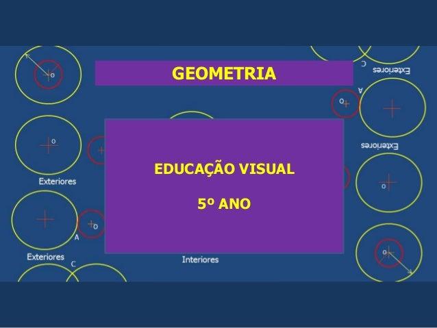 GEOMETRIA EDUCAÇÃO VISUAL 5º ANO