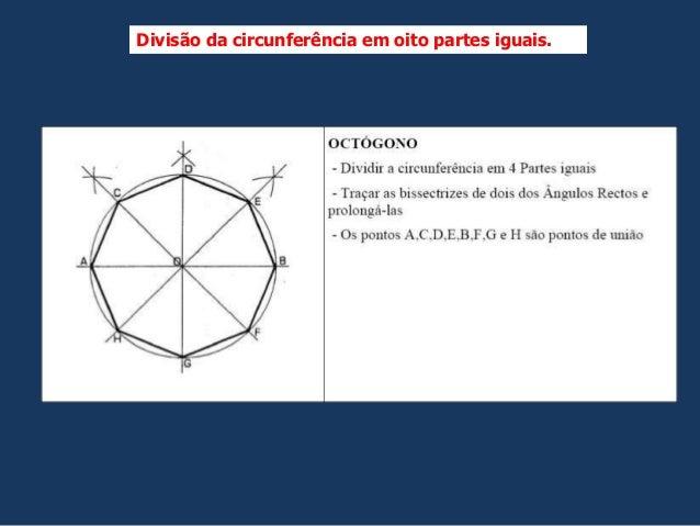 Divisão da circunferência em oito partes iguais.
