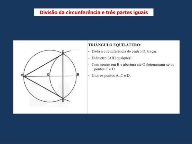 Divisão da circunferência e três partes iguais