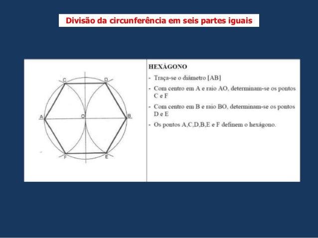 Divisão da circunferência em seis partes iguais