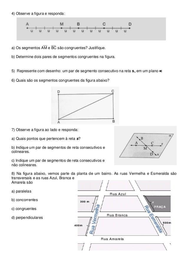Atividade de Geometria 6º ano (retas) Slide 2