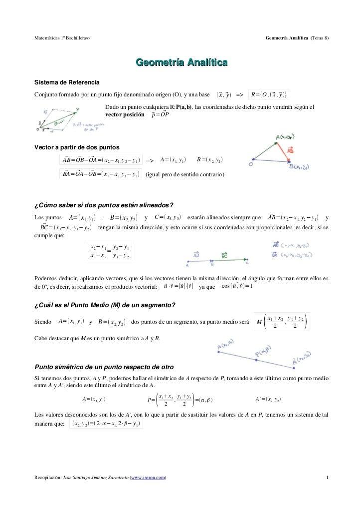 Matemáticas 1º Bachillerato                                                                                      Geometría...