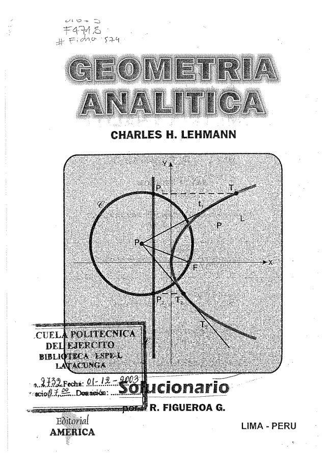 SOLUCIONARIO -Geometria analitica de Lehmann