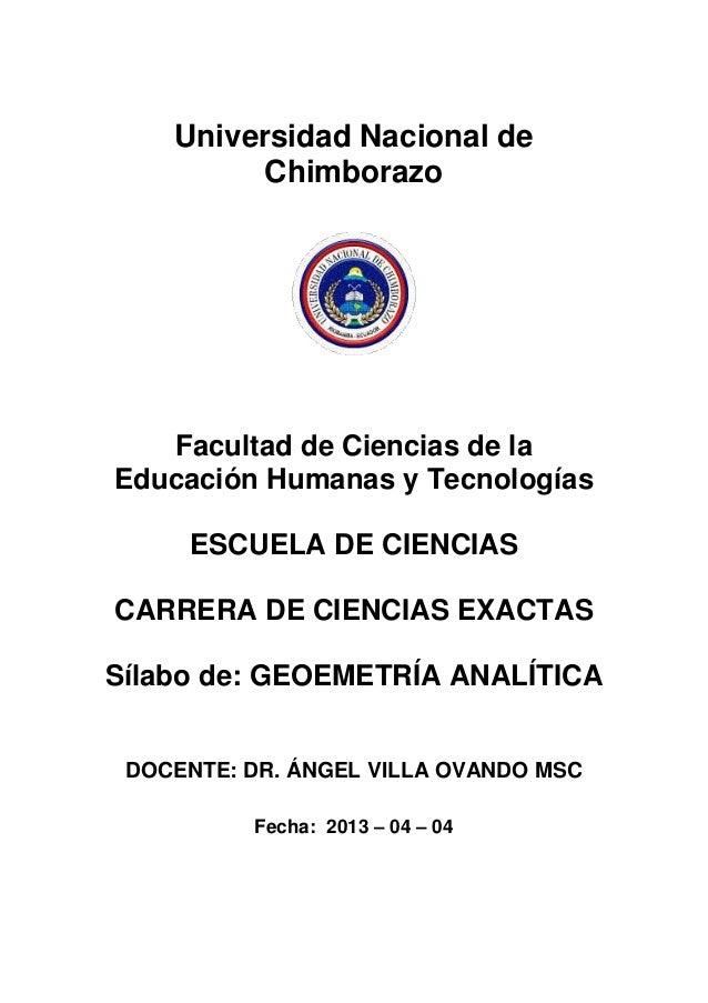 Universidad Nacional deChimborazoFacultad de Ciencias de laEducación Humanas y TecnologíasESCUELA DE CIENCIASCARRERA DE CI...
