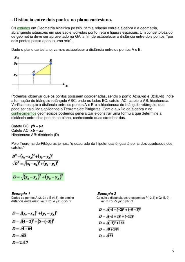 ... 5. 5- Distância entre dois pontos no plano cartesiano. 3f5a4c0d88755