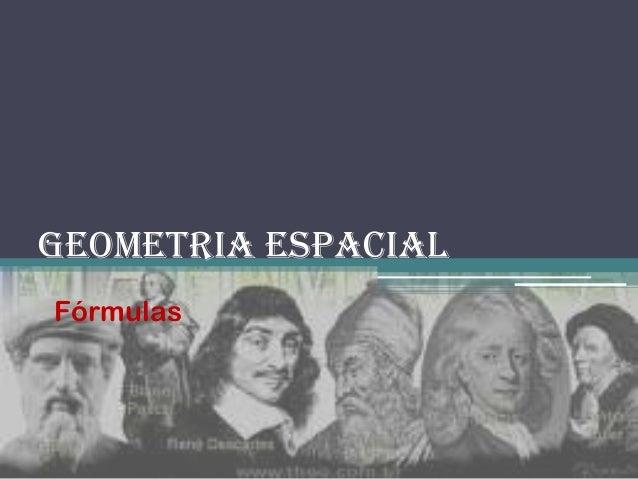 Geometria Espacial Fórmulas