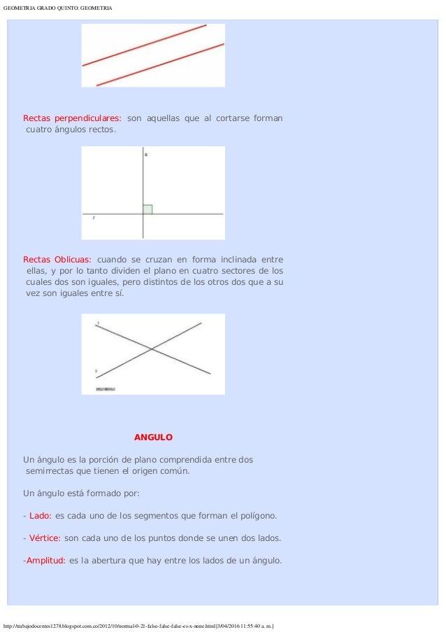 Geometria grado quinto geometria