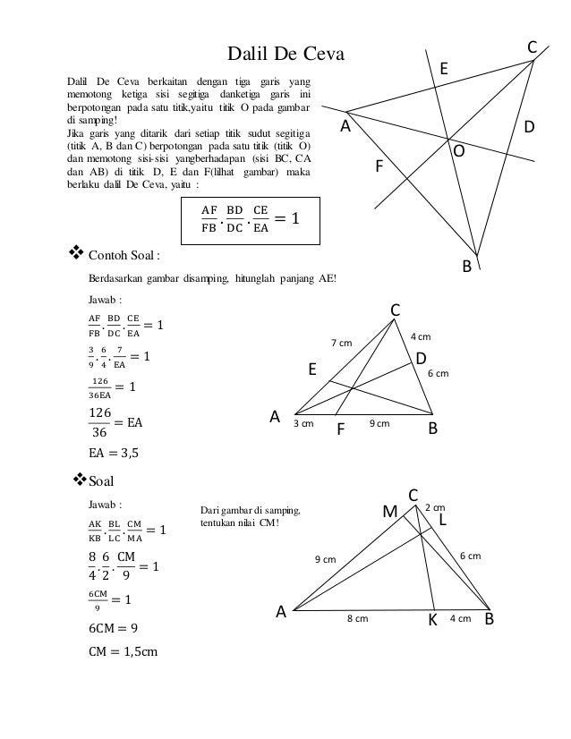 geometri bidang datar dan dalil dalil pada segitiga 2 638