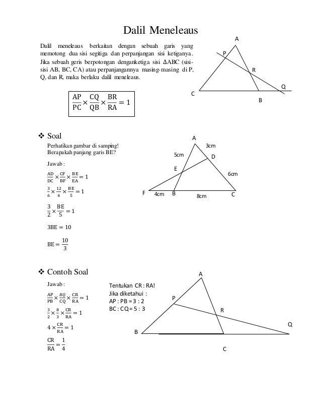 geometri bidang datar dan dalil dalil pada segitiga 4 638