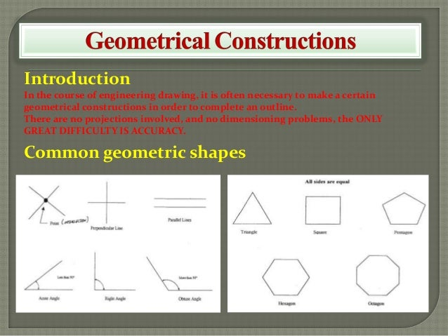 Introduction In the course of engineering drawing, it is often necessary to make a certain geometrical constructions in or...