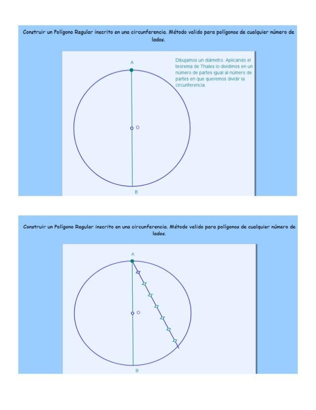 pentágono inscrito en una circunferencia