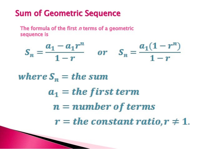 ... Geometric Sequence Is; 9. Examples: ...