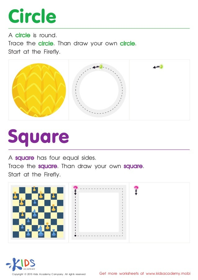 picture regarding Printable Geometric Shapes titled Totally free Printable Geometric designs worksheets for Preschool and