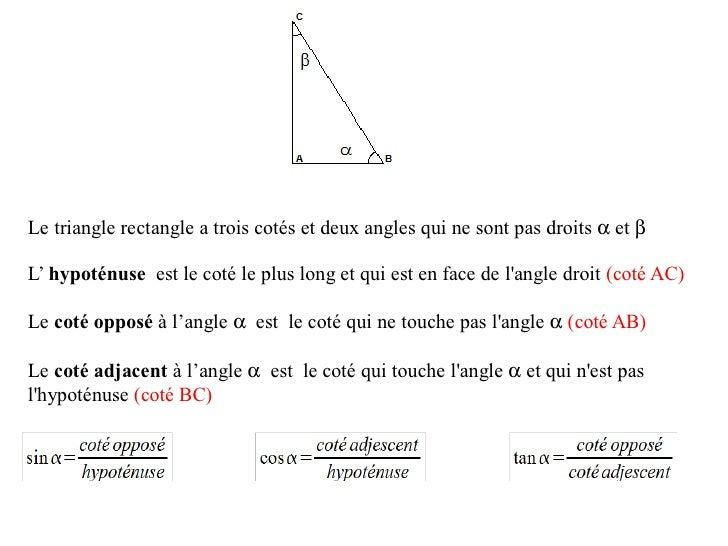 Geometrie4  Relations Trigonometriques Slide 1