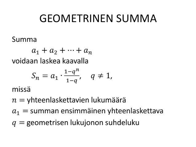 Geometrinen Lukujono