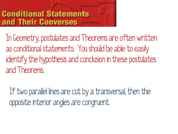 Conditional, Contrapositive, Inverse, Converse, and Biconditional