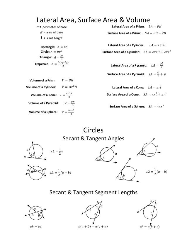 formula sheets for geometry - Ataum berglauf-verband com