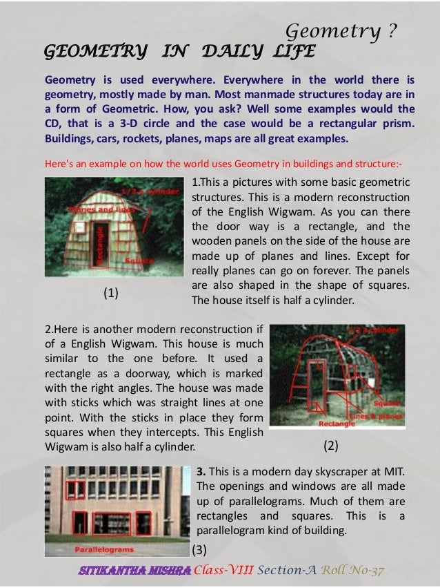 uses of geometry in daily life