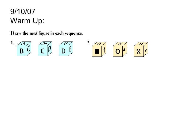 9/10/07 Warm Up:
