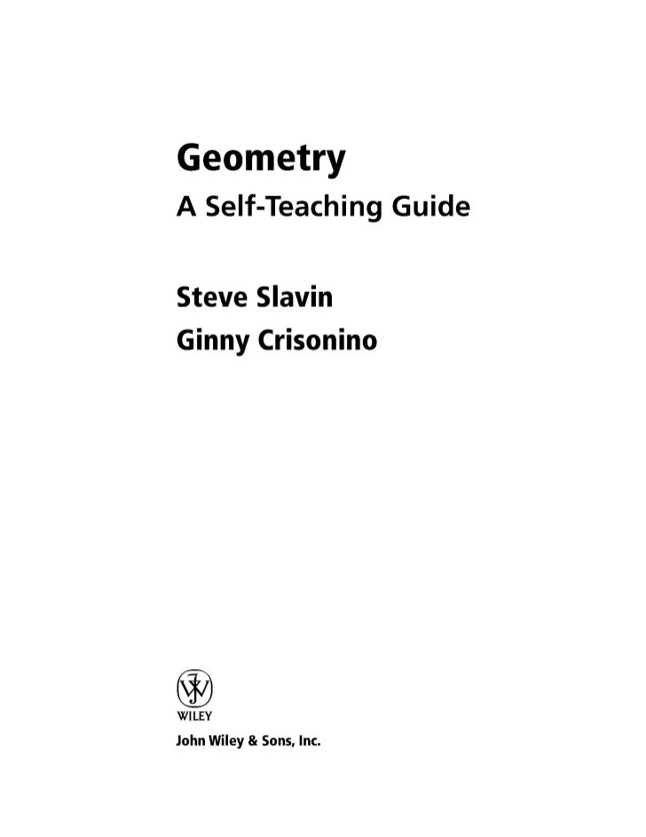 Geometry   self teaching guide