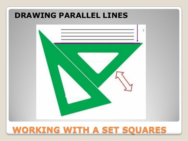 Drawing Parallel Lines With Set Squares : Geometry basic definitions