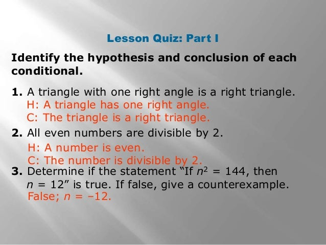 write a true conditional statement that is logically equivalent to its converse