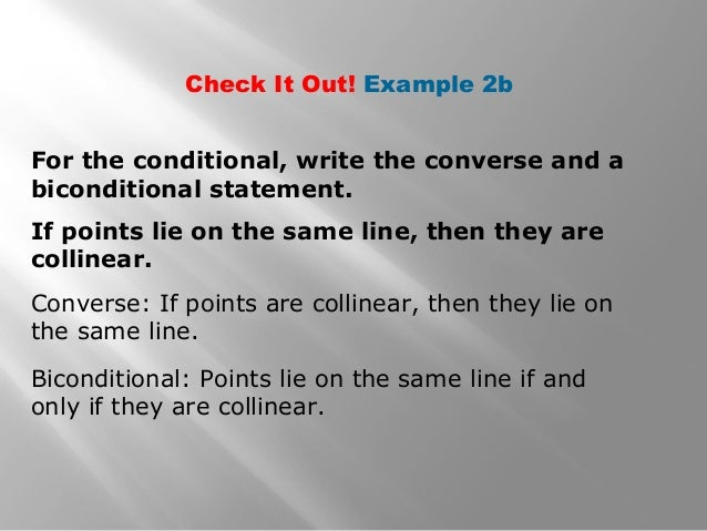 how to write a biconditional statement