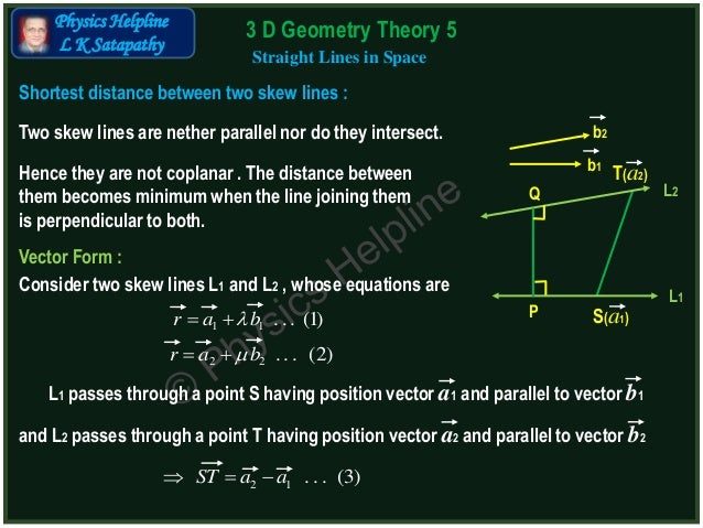 point slope form in 3d  16D Geometry Theory.16