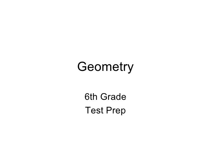 Geometry 6th Grade Test Prep