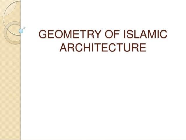 geometry of islamic architecture