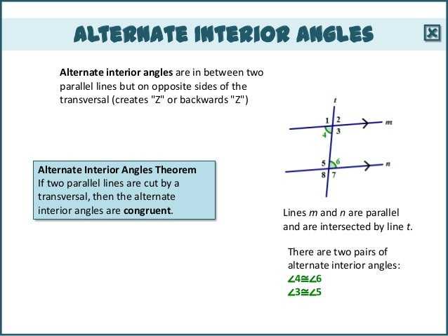 How Do I Prove That Same Side Interior Angles Are Supplementary