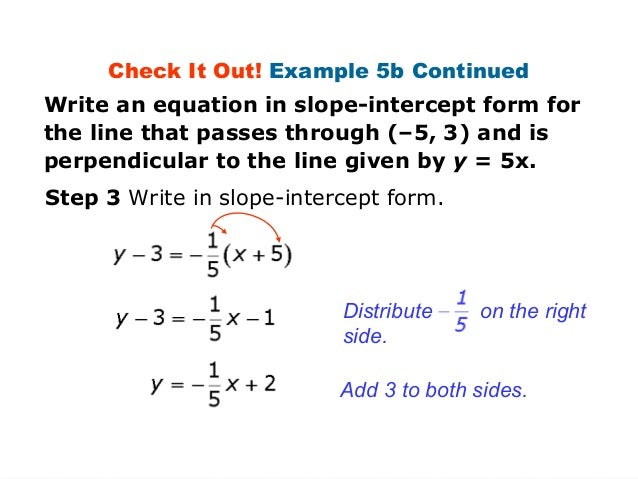 Parallel lines from equation (example 3)