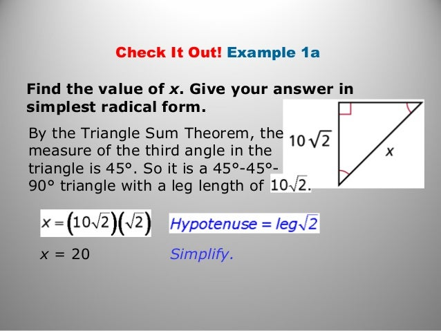 geometry-unit-82-8-638 Simplest Radical Form Example on what is square root 450, how put, simplify number, square root 47,