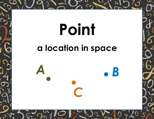 Point a location in space . .A B .C