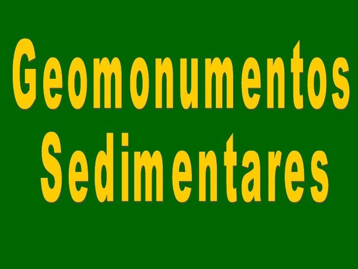 Geomonumentos Sedimentares