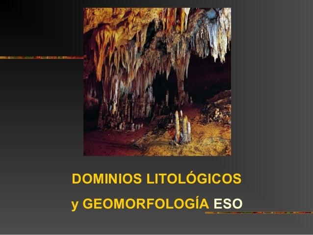 DOMINIOS LITOLÓGICOS y GEOMORFOLOGÍA ESO