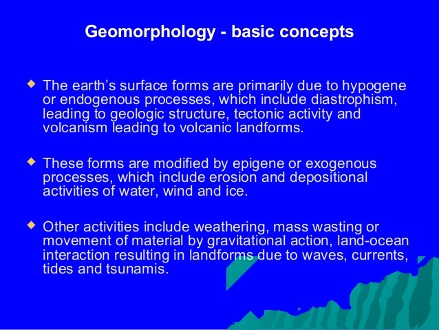 Geomorphology Applications