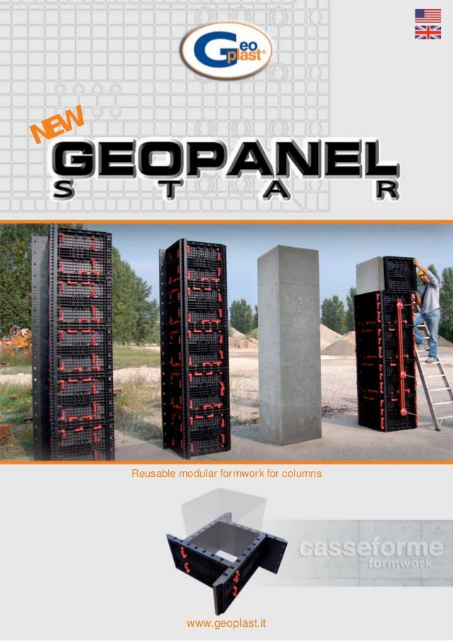 Reusable modular formwork for columns www.geoplast.it NEW