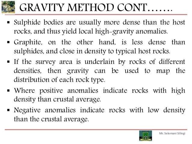 application of gravity survey method