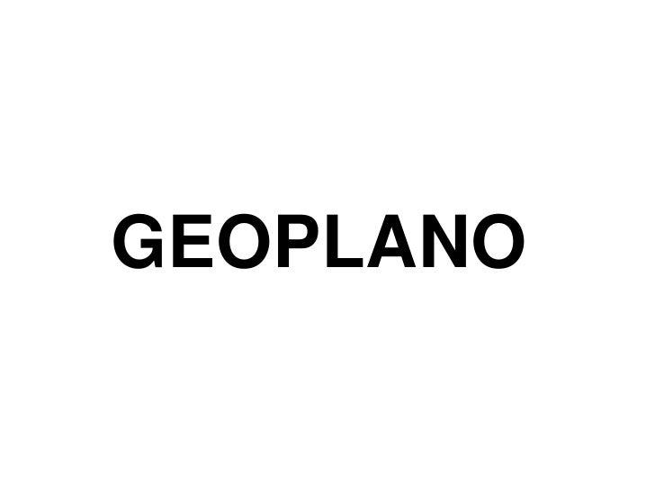 GEOPLANO<br />