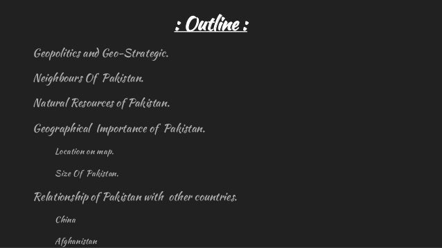 Geopolitical importance of pakistan Slide 3