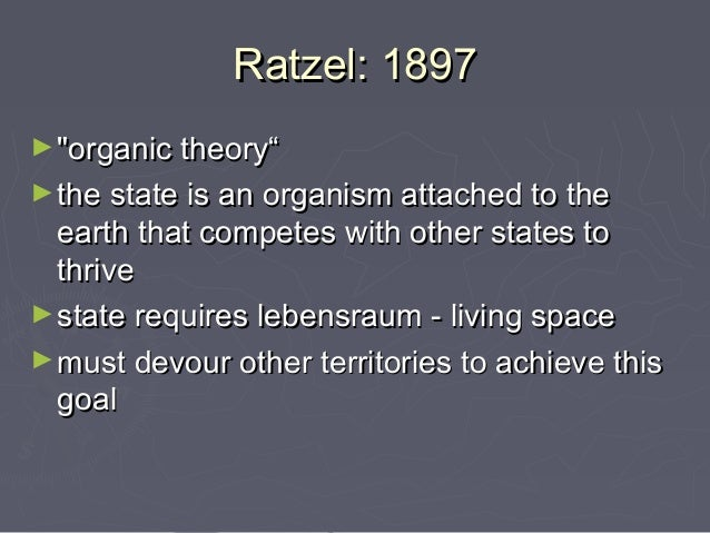 an analysis of organic theory From a constructivist viewpoint we criticize the usual reductionistic interpretation  of organic selection: the replacement of a habit by an instinct we argue that.