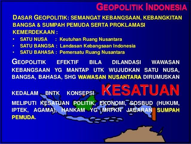 Essay Geopolitik Dengan Sumpah Pemuda Geopolitik Mardoto