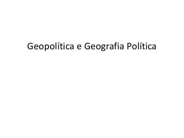 Geopolítica e Geografia Política