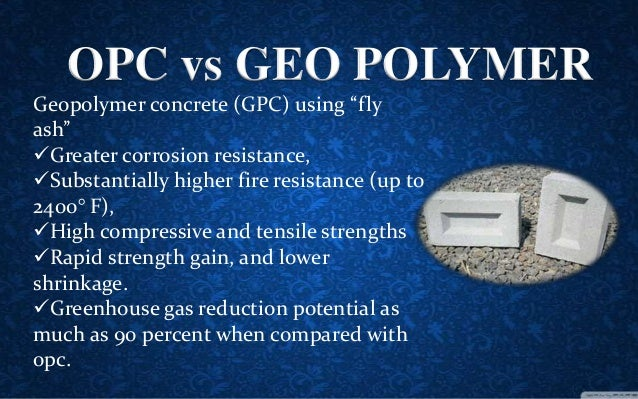 geopolymer concrete The graph shows that with a firing temperature of 85 degrees celsius, geopolymers become as s strong as concrete blocks,  geopolymers geopolymer alliance.