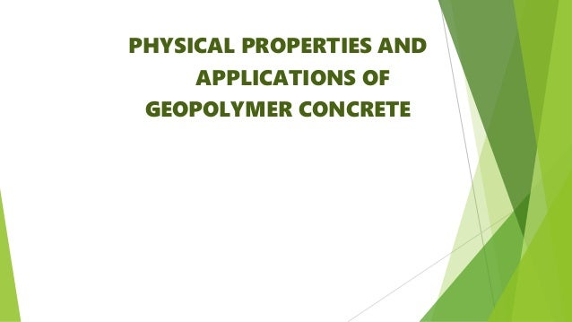 64 Geopolymer PPTs View free & download   PowerShow.com
