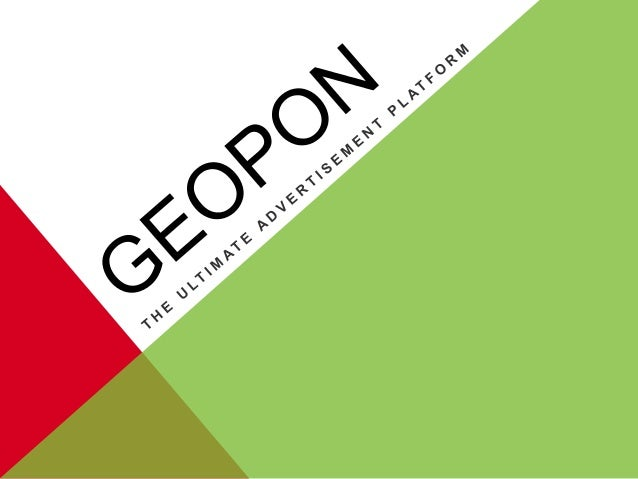 Geopon is the ultimate mobile advertisement platform. Geopon delivers relevant content in the form of coupons, weekly ads,...